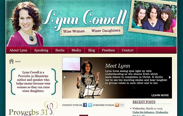 Lynn Cowell - Christian Author and Speaker