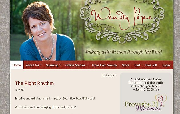Wendy Pope - Christian Author and Speaker