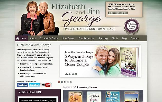 Elizabeth and Jim George - Christian authors